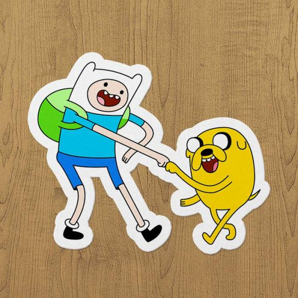 adventure time çizgi film sticker