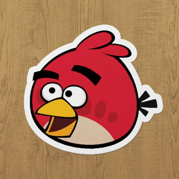 Angary Birds Sticker