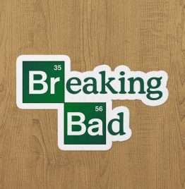 breaking bad sticker etiket