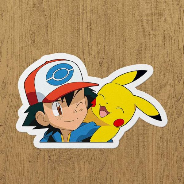 Pikachu ve ash sticker
