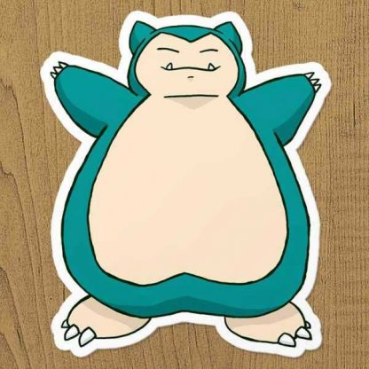 Pokemon Snorlax Sticker etiket
