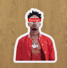 21SAVAGE sticker eitket