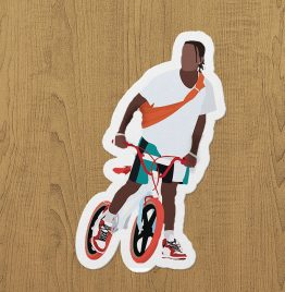 asap rocky sticker etiket