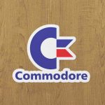 commodore sticker etiket