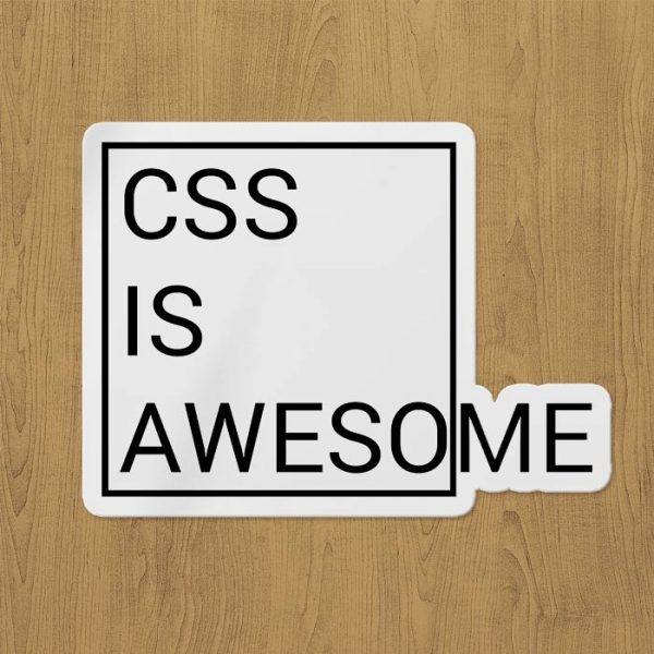 css is awesome sticker etiket