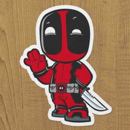 deadpool sticker etiket