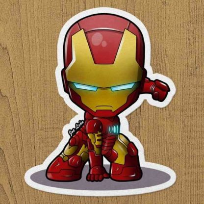 iron man sticker etiket