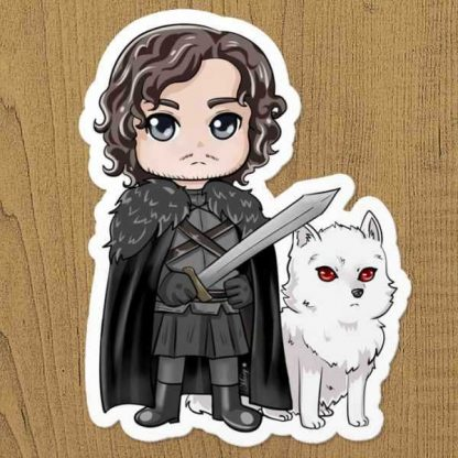 Jon Snow Sticker Etiket