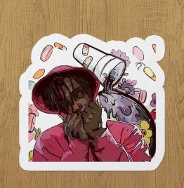 Juice Wrld sticker etiket