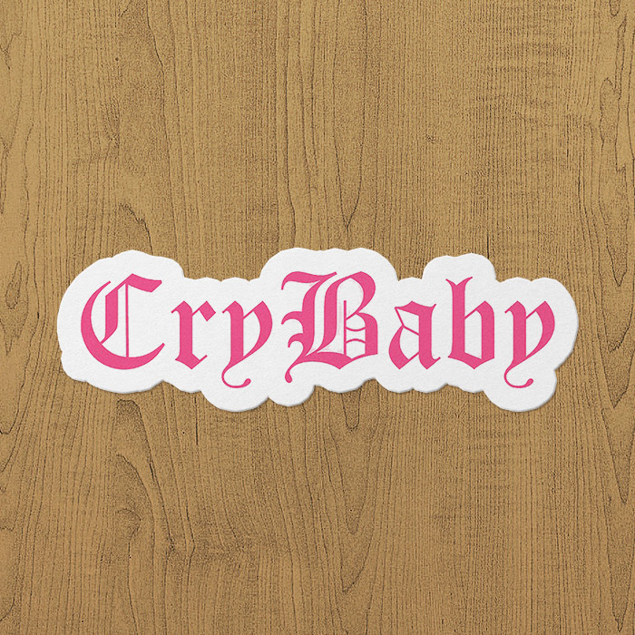 lil peep cry baby sticker etiket