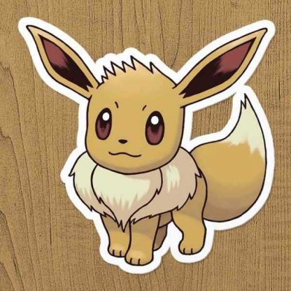 pokemon eevee sticker etiket