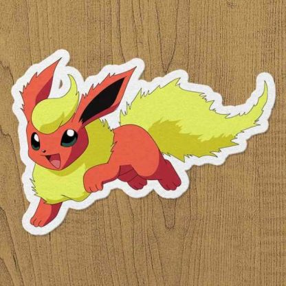 pokemon flareon sticker etiket