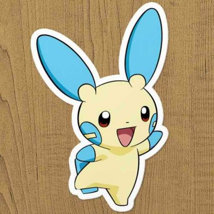 Pokemon Minun Sticker etiket