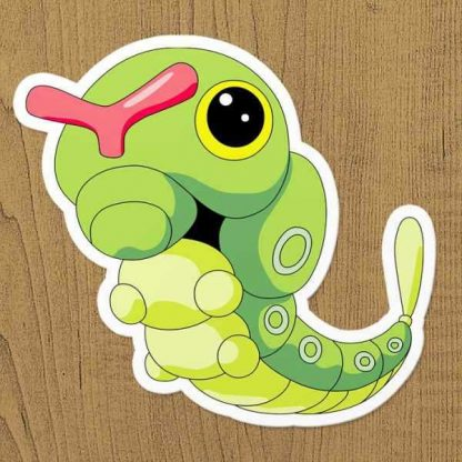 Pokemon Caterpie Sticker etiket