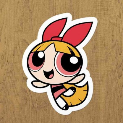 powerpuff girls blossom sticker etiket