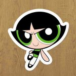 PowerPuff Girls Buttercup Sticker etiket