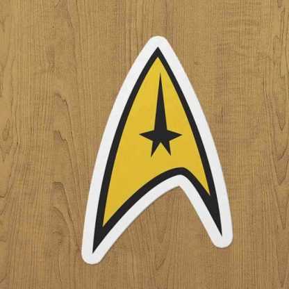 star trek sticker etiket