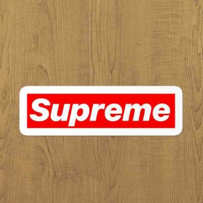 Supreme sticker etiket