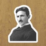 tesla laptop sticker etiket