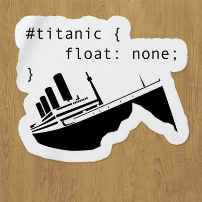 Titanic None Sticker etiket