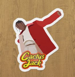 travis scott cactus jack sticker etiket