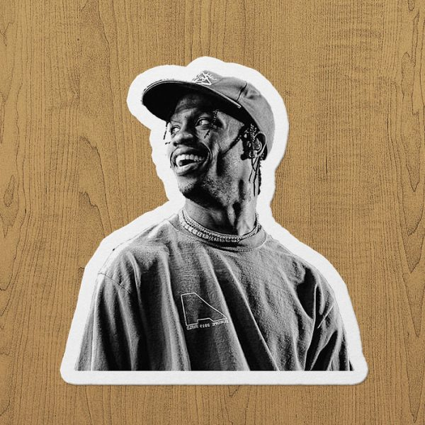 travis scott sticker etiket