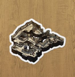 CSGO Dust 2 Sticker etiket