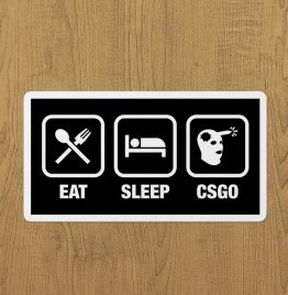 Eat Sleep CsGo Sticker etiket
