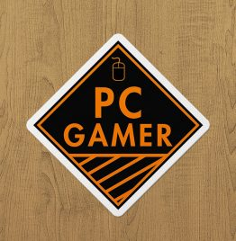 PC Gamer(Turuncu) Sticker etiket