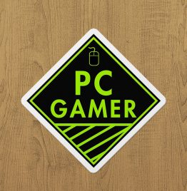 PC Gamer(Yeşil) Sticker etiket