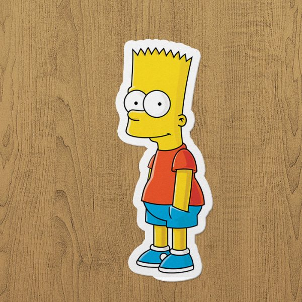 bart simpson sticker etiket