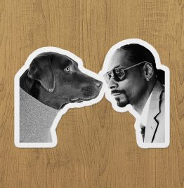 dog and snoop dogg sticker etiket