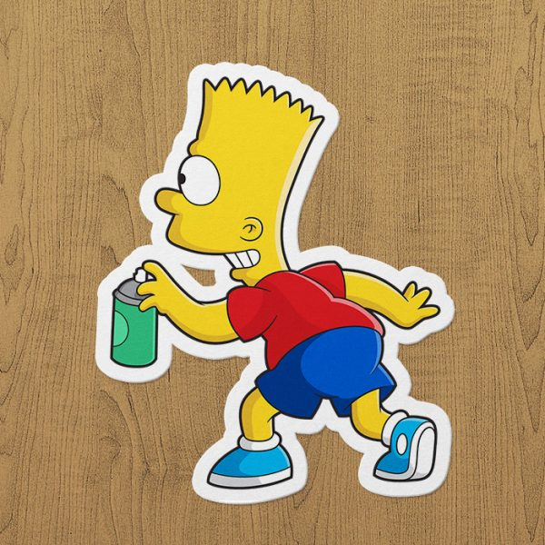 graffitici bart simpson sticker etiket