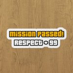 gta mission passed sticker etiket