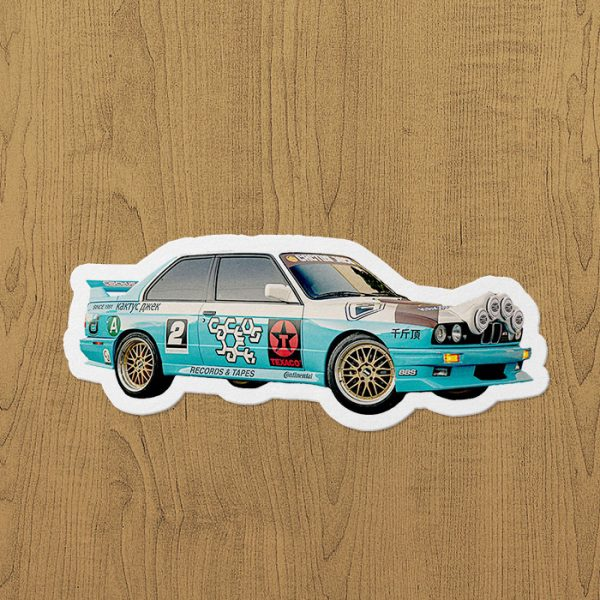 jackboys racing car sticker etiket