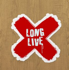long live x sticker etiket