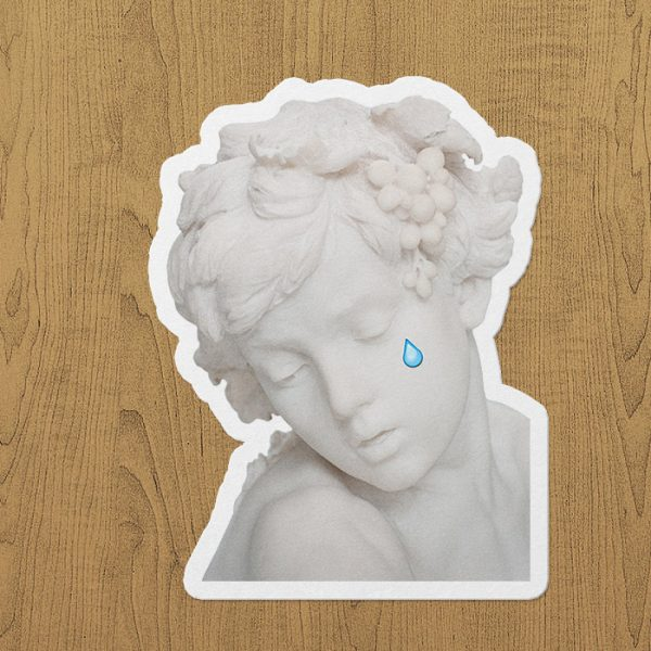 Crying Angel Sticker etiket