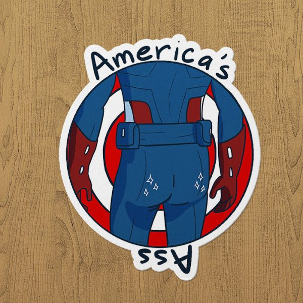 Captain America's Ass Sticker etiket