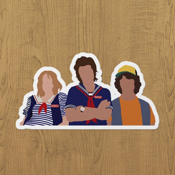 Robin, Steve ve Dustin Sticker Etiket