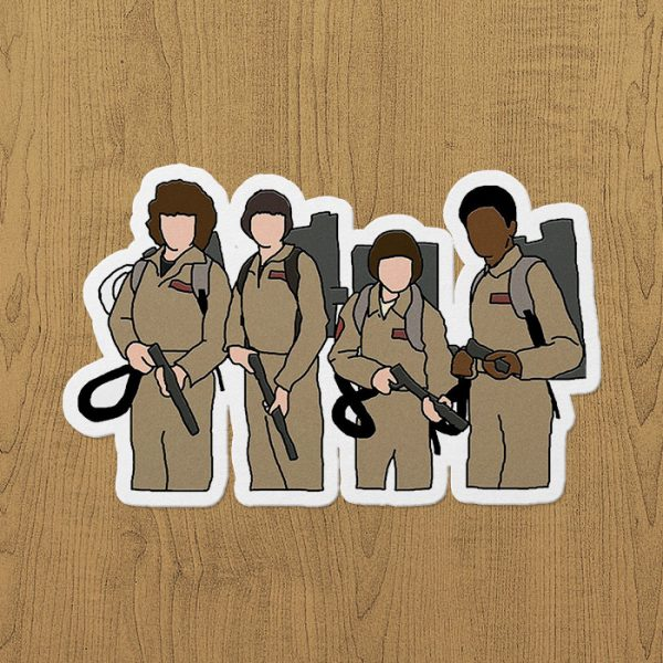 Stranger Things Ghostbusters Sticker etiket