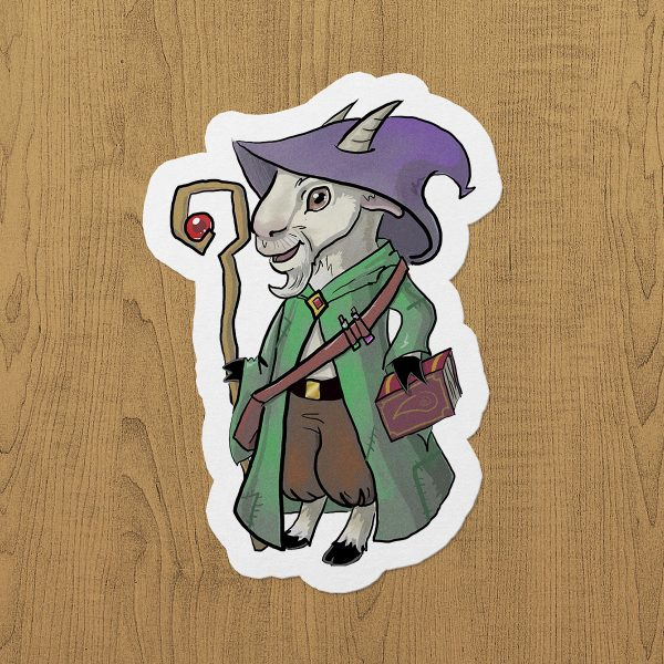 Goat Wizard Sticker etiket