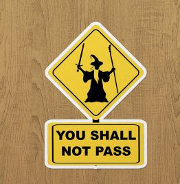 You Shall Not Pass Sticker etiket