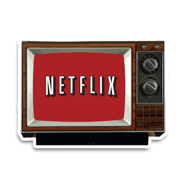 Netflix Tv Sticker etiket