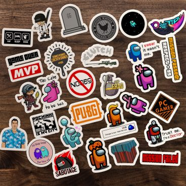 30'Lu Gamer Sticker Etiket Seti