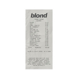 frank ocean blond sticker etiket