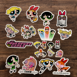 20'li Powerpuff Girls Sticker seti