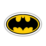 Batman Logo Sticker etiket