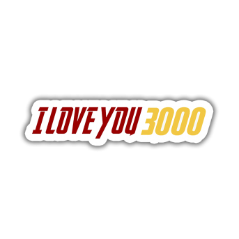 Marvel I love you 3000 Sticker