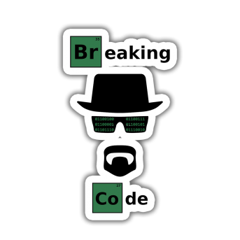 Breaking Code Sticker